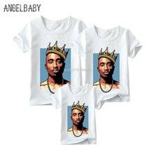 Одинаковые комплекты для семьи футболка с принтом «Biggie Small» для мальчиков и девочек Одинаковая одежда для всей семьи забавная футболка для детей, мужчин и женщин