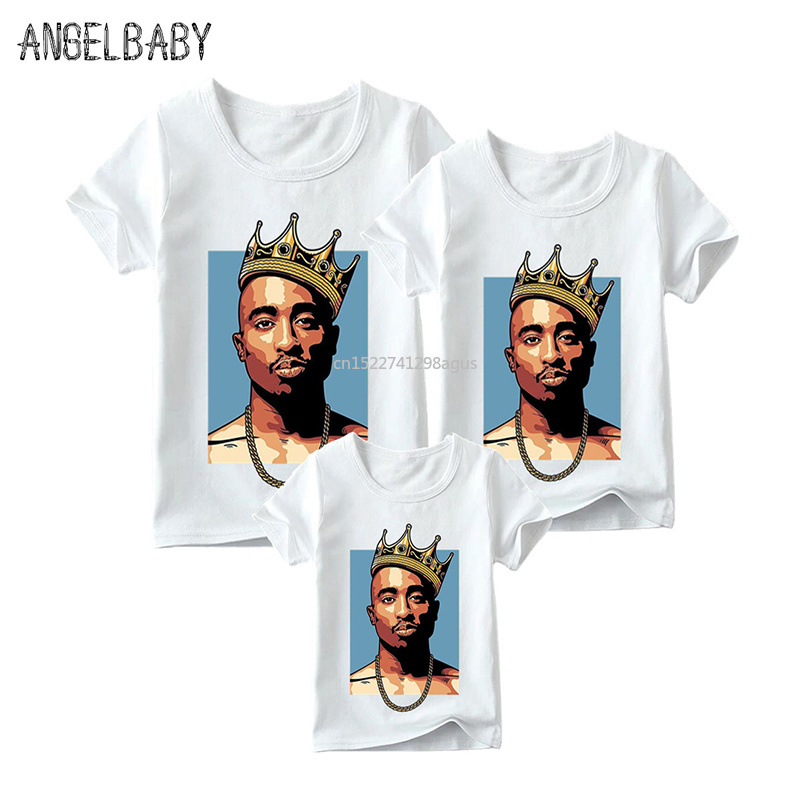 Matching Family Outfits 2pac/Biggie Smalls Print Boys Girls T-shirt Family Matching Look Clothes Kids&Man&Woman Funny TshirtMatching Family Outfits 2pac/Biggie Smalls Print Boys Girls T-shirt Family Matching Look Clothes Kids&Man&Woman Funny Tshirt