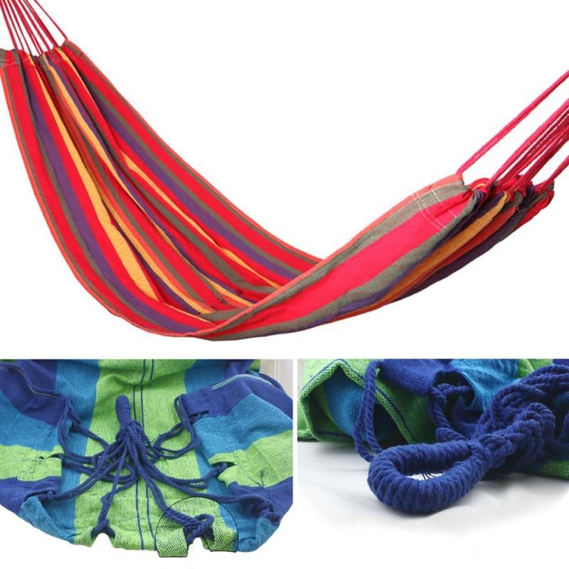 Портативный гамак двойной человек Открытый Кемпинг выживания сад отдыха и путешествий Мебель парашют Гамаки