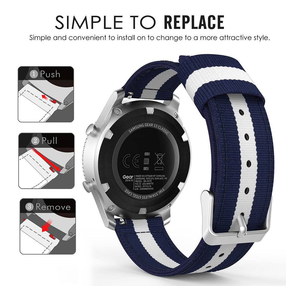 For Samsung Gear S3 Classic/ Frontier Watchband 22mm Watch Band for Xiaomi Huami Amazfit 2/2S Stratos Strap Replacement Bracelet marking tools