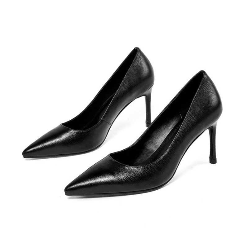 2019 new female pointed head with European and American shallow mouth womens shoes black ljj 04182019 new female pointed head with European and American shallow mouth womens shoes black ljj 0418