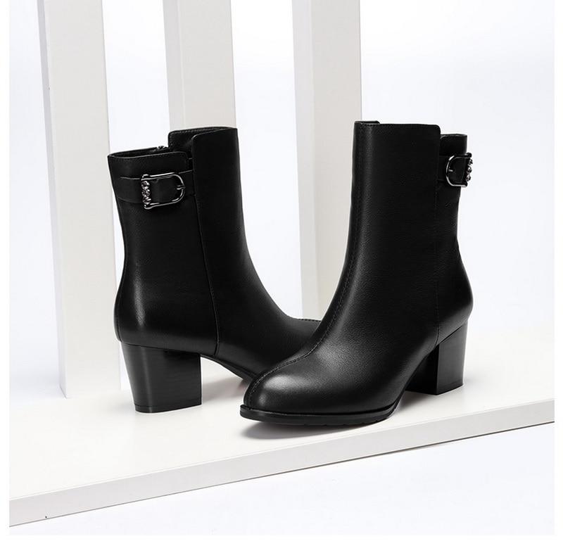 جديد وصل النساء عالية أحذية بكعب 5 سنتيمتر ل كعب-في أحذية الكاحل من أحذية على  مجموعة 1