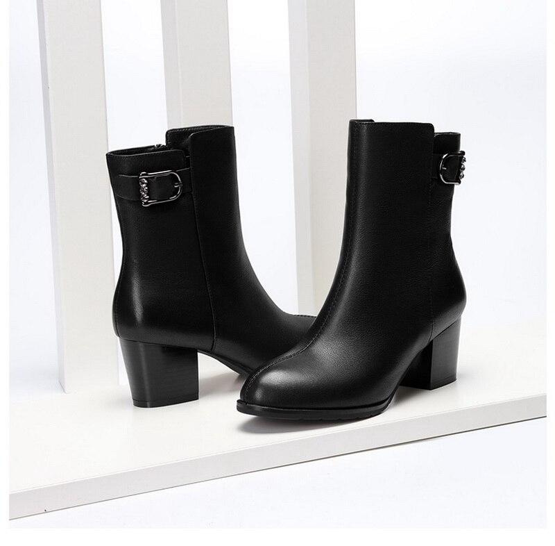 Ayakk.'ten Ayak Bileği Çizmeler'de Yeni geldi kadınlar yüksek topuklu ayakkabılar için 5cm topuk'da  Grup 1