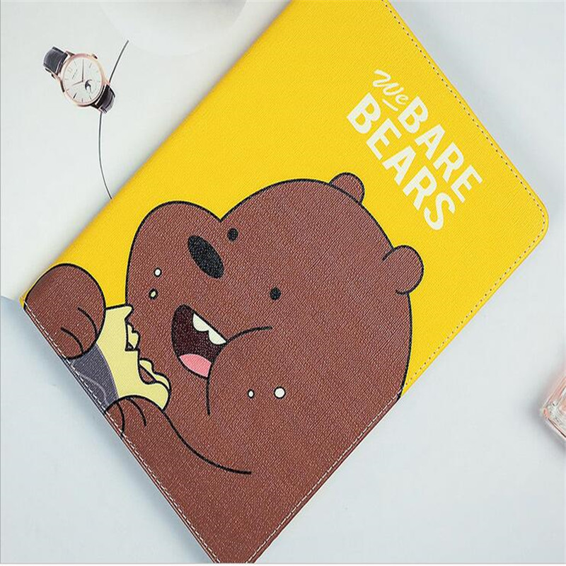 Cute character we bare bears pattern tablet case for 2017 new ipad original brand quality with package in Tablets e Books Case from Computer Office