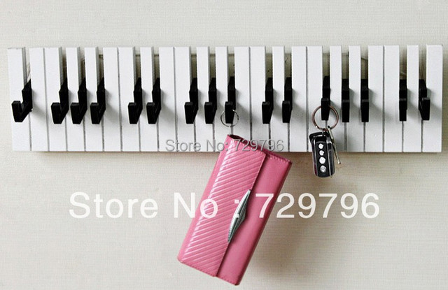 Free Shipping Creative And Modern Hooks By Designer Makeup Piano Hook For Wall Decoration Hanging Hanger