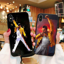 Rock and roll Freddie Mercury Queen Soft TPU Silicone Phone Case Cover For iPhone X XS MAX XR 6 6S Plus 7 8 55 SE