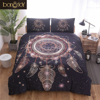 Bonenjoy Black Dreamcatcher Ducet Cover Set Indian Style Queen Size edredones y conjuntos de ropa de cama Bedding Sets King Size