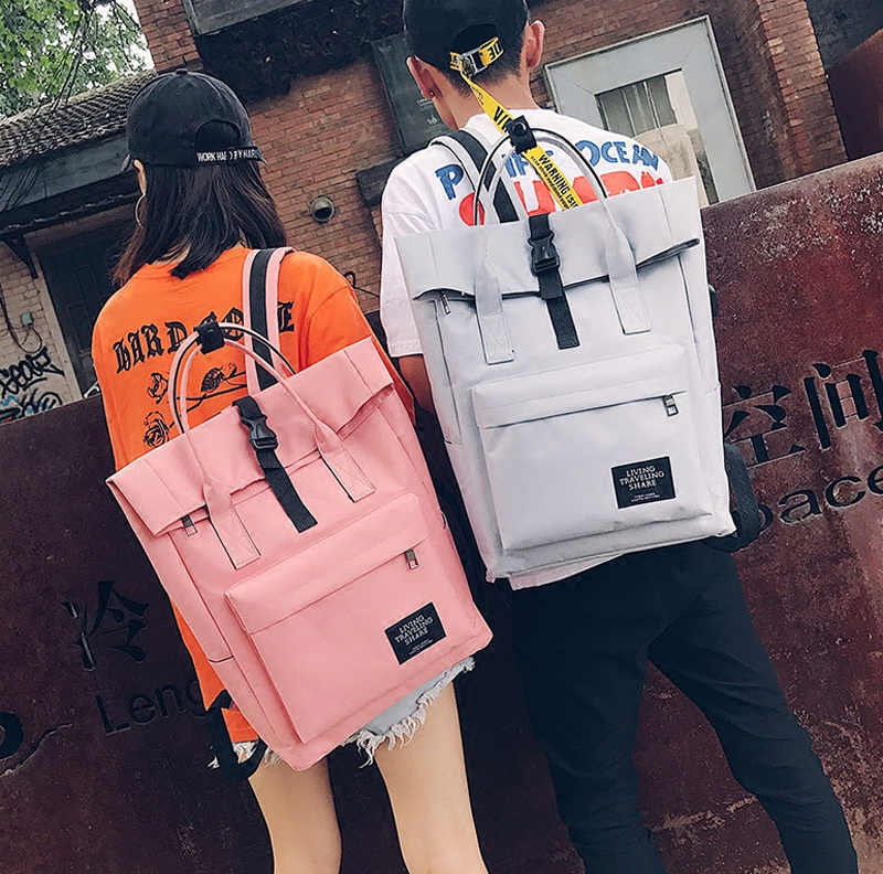 Japanese And Korean Style Backapck For Couples College Style Stylish Schoolbag For Students Solid Computer Bag For Women And Men женские брюки other japanese and korean brands