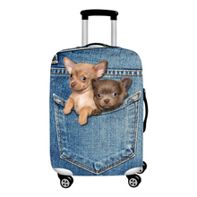 Luggage Case with Dog Prints