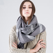 ZA Winter 2016 2017 Tartan Scarf Desigual Plaid Cuadros New Designer Luxury Brand Unisex Blanket Shawls