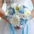 Buquês de Noiva coloridos 2016 Mão Bouquets de Casamento Flor Artificial de Seda Calla Buquê De Mariage