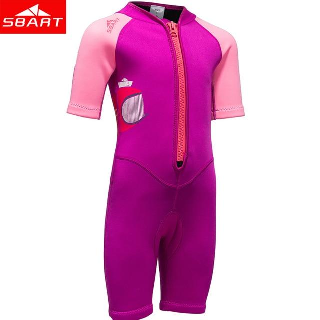 e1168f5c74 SBART 2mm néoprène Shorty combinaison enfants pour la natation garçons  filles crème solaire surf plongée sous