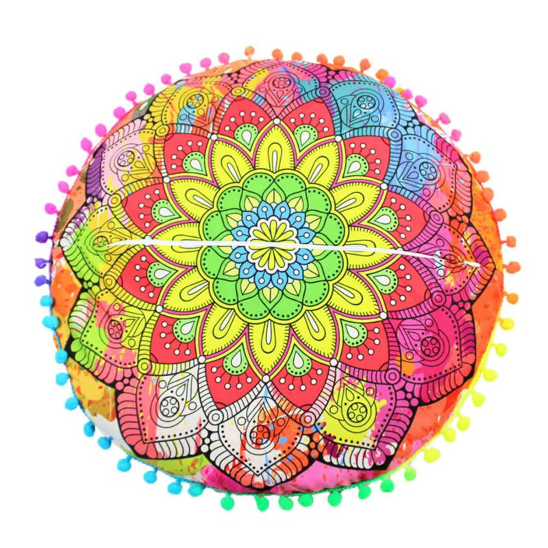 pillow covers decorative coushion cover Indian Mandala Floor Pillows Round Bohemian Cushion Pillows smile Cushions x30413
