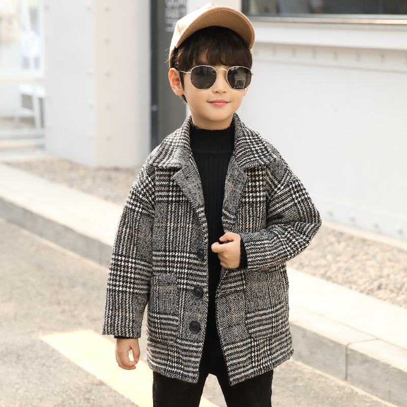 kids clothes 2019 new children's jacket boy winter long-sleeved single-breasted coat coat children's clothing