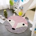 1 unid de 80x80 cm redonda tejida A Mano animales juegan mats niños tejer mantas esteras INS estilo Nórdico hot fox oso modelos
