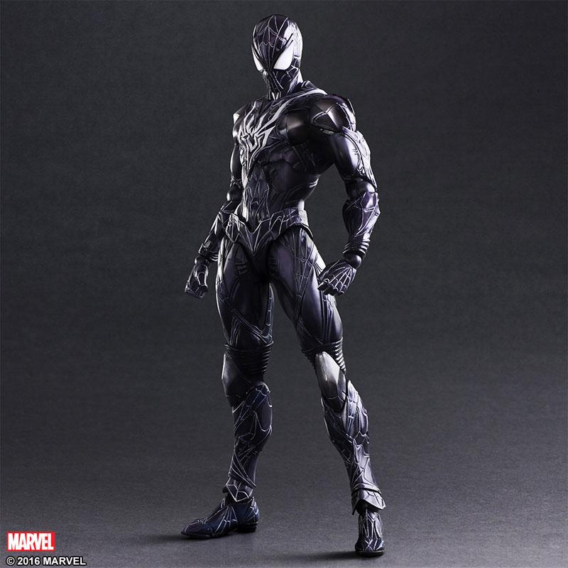 все цены на  SQUARE ENIX Play Arts KAI Black Spiderman PVC Action Figure Collectible Model Toy 28cm KT2899  онлайн