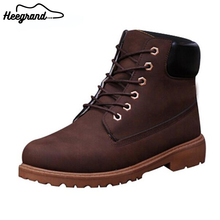 2016 Hot-selling Men's Fashion Solid Warm Winter Boots Male Casual PU Thick Plush Men Boots Shoes XMX485