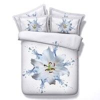 # Q 3d ensemble de literie fleur literie 4 pcs reine roi beau loup de beauté équité confort literie confortable gloriou confort draps