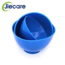 Dental-Rubber Bowl Silicon for Oral-Hygiene-Tool Blue Lab Plastic 3pcs/Set