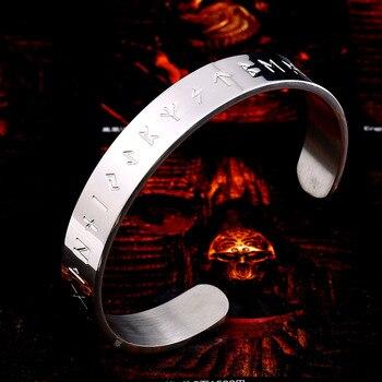 Viking Amulet Rune Bangle Nordic Stainless Steel Bracelet  Viking Bracelet