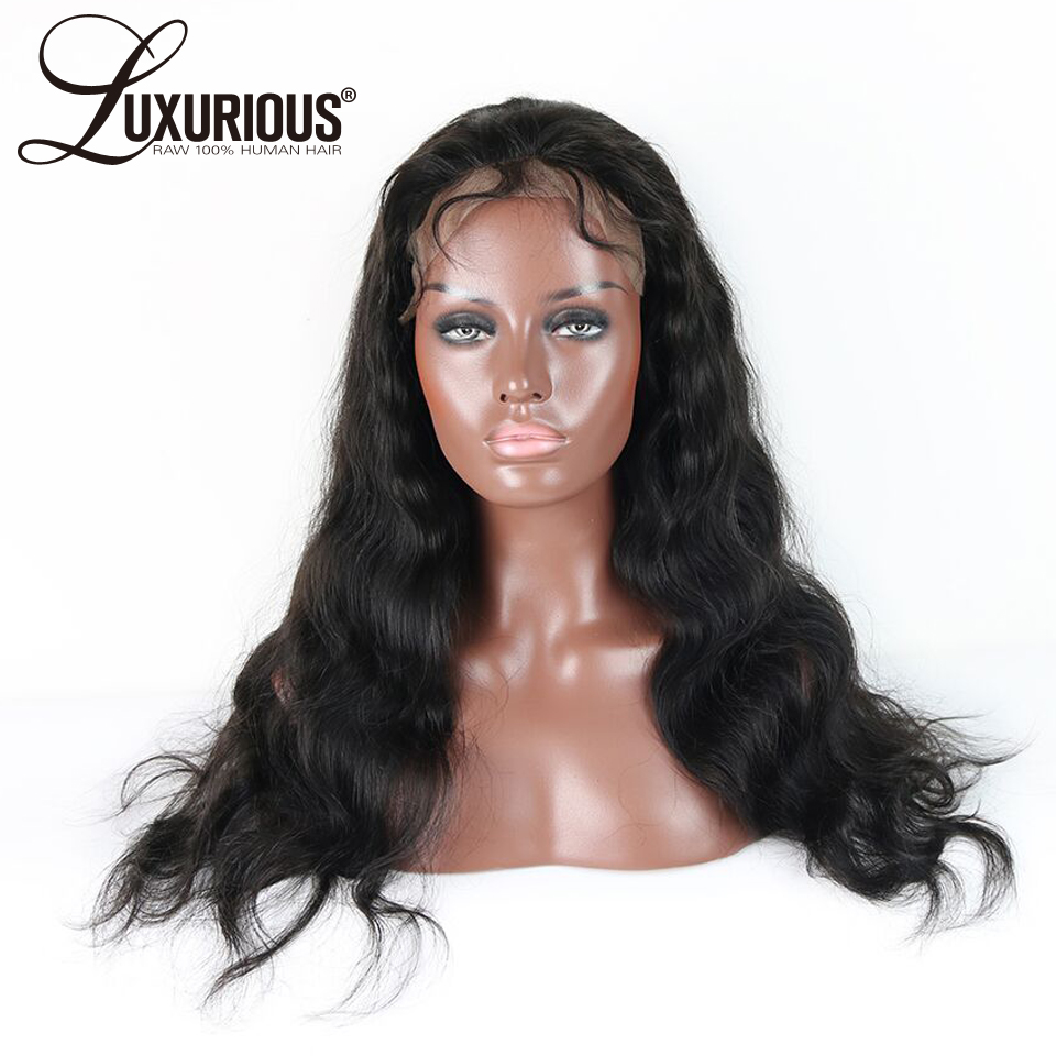 Pre-Plucked Lace Front Human Hair Wigs With Baby Hair Body Wave Peruvian Remy Human Hair Wigs Bleached Knots 13*3.5 Part Space