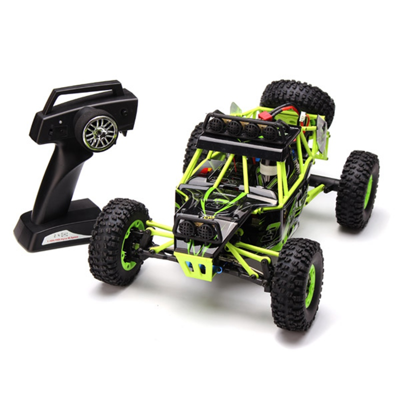 ФОТО High Quality WLtoys 12428 2.4G 1/12 4WD Crawler RC Car  With LED Light RTR