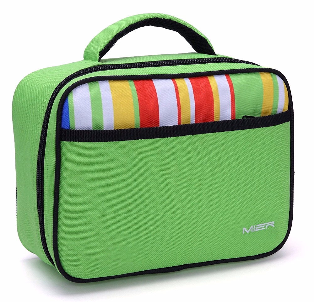MIER Portable kids lunch box Insulated cooler lunch bag ...