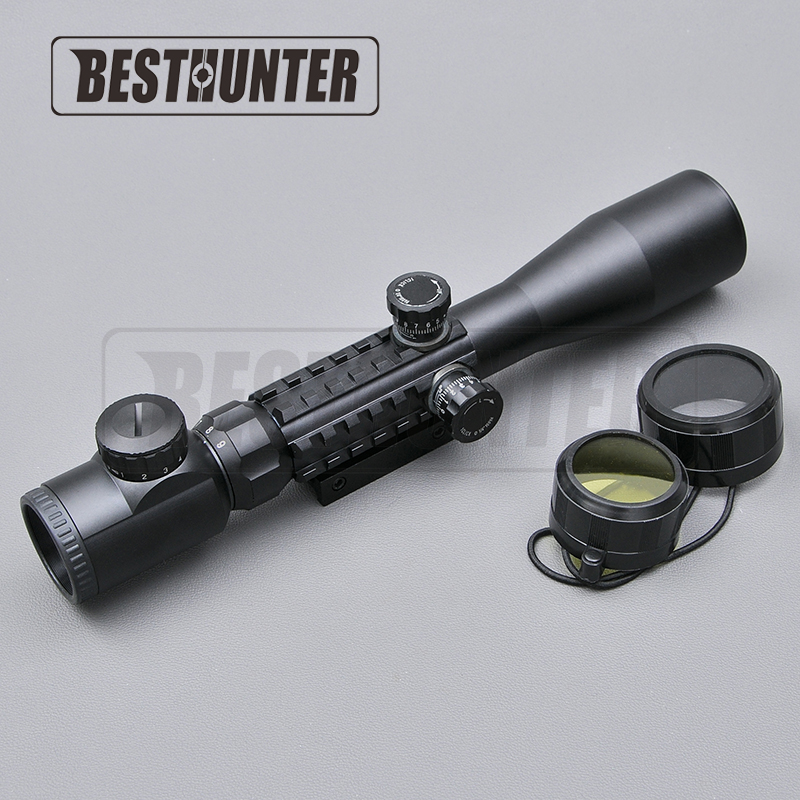 Hunting Riflescope 3-9x40 Optical Illuminated Sight Aiming Device Night Shooting Accept Airsoft Sniper Rifle AR15 AR10 .223/.308