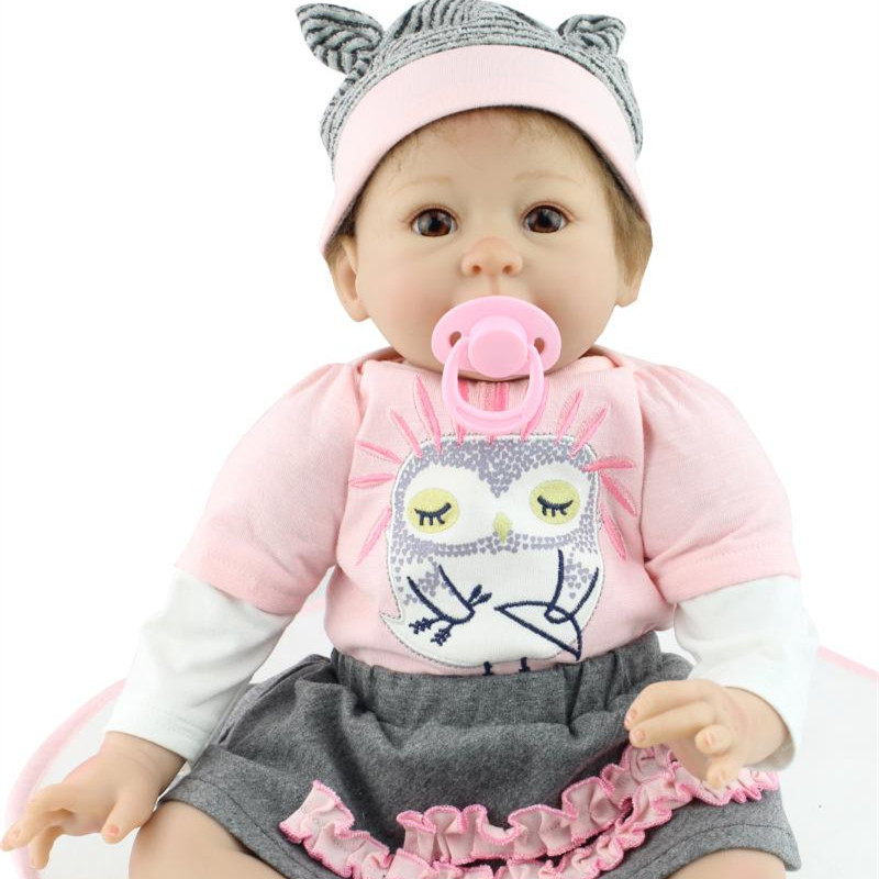 22 Inches 50 55cm Handmade Silicone Newborn Girl Dolls Realistic Reborn Baby Dolls For Adoption Lifelike