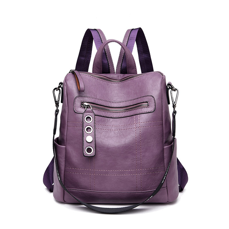 Designer Female Shoulder Bag Women's Leather Backpack Rucksack School Bags For Teenager Girls Travel Back Pack