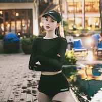 Surf Clothes Swimsuit For Women Sports Swimwear Female Surfing Swimsuits Bath Suits Windsurfing New Sexy Long Sleeve Black
