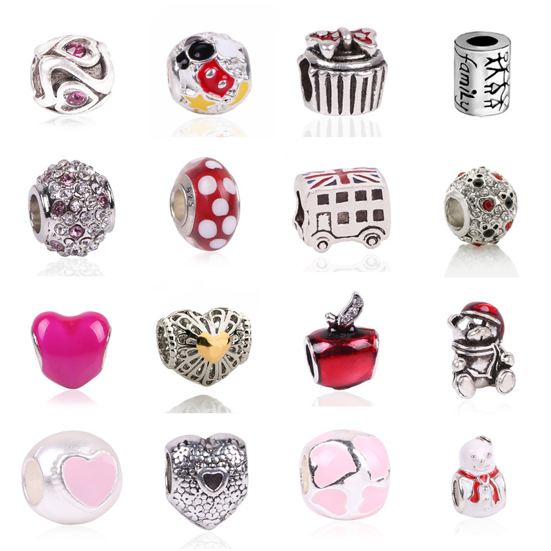 Free Shipping 1Pc Silver Bead Charm European Charms Beads Long Tube Family Charm Fit For Pandora