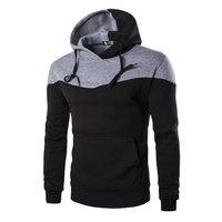 Winter Hoodies Men Sudaderas Hombre Hip Hop Mens Hoodie Decorative Pocket Patchwork Sweatshirt LM58