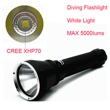 5000LM Diving100M CREE XHP70 Flashlight Camping Torches LED Lanterna Hunting Diving Dive Light Torch Outdoor Light