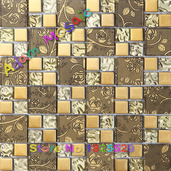 Yellow Glass Tile Subway Backsplash Art Design Flower Tiles Kitchen Deco Materials Bathroom Wall Floral Tile Mirror On Aliexpress Com Alibaba Group
