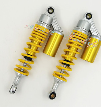 325mm,335mm 8mm spring Motorcycle   Shock Absorbers for Honda CB400 Yamaha FZX750 XJR400 XJR1200 XJR1300 suzuki silver&yellow
