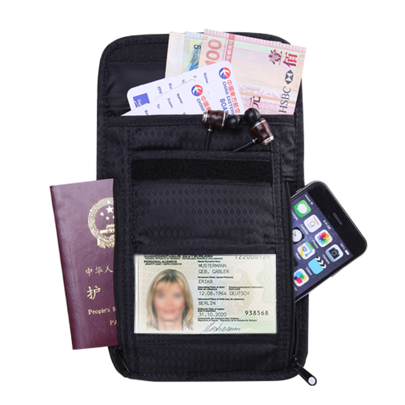 City Jogging Bags Zero Wallet Outdoor Sports Pouch Men Women Mutli-purpose Zippered Pouch Carry Case Bag For Passport Ticket Cards Multicolor