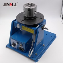 K11 100 100mm Chuck + BY 10 Mini Welding Positioner Turntable 3 Jaw Lathe Chuck Welding Table semi automatic welding
