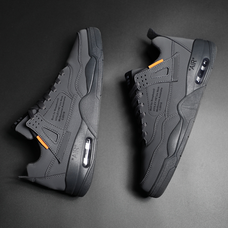 GINITA Brand Sneakers For Men Casual Shoes Air Cushion Breathable Leather Shoes Sneakers Mens Shoes Casual Zapatillas Hombre