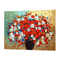 Flowers Vase DIY Oil Painting Paint By Number Kits On Canvas Home Decor