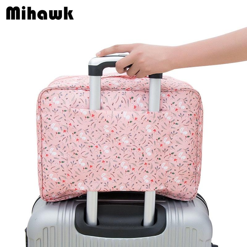 Mihawk Portable Women's Travel Bag Cartoon Cute Personalized Luggage