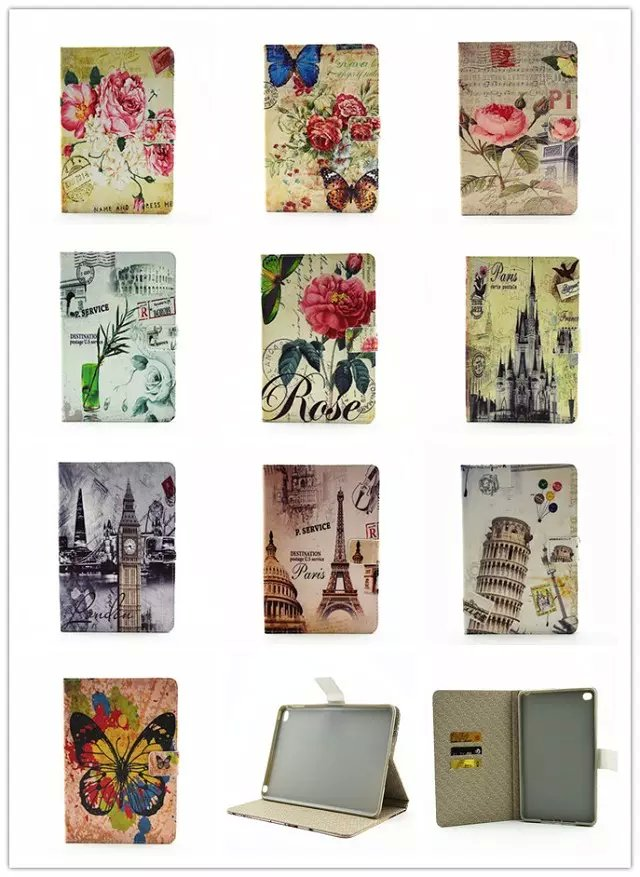 Fashion Mix Painted With Stand Flip PU Stand Leather For iPad Air1 Case For Apple iPad Air 1 iPad 5 iPad5 Case Cover