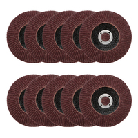 10pcs Flap Discs Flower Shaped Wheel 100mm Sandpaper Wheels Disc 80Grit Polished Wafers Sanding Polishing Wheel