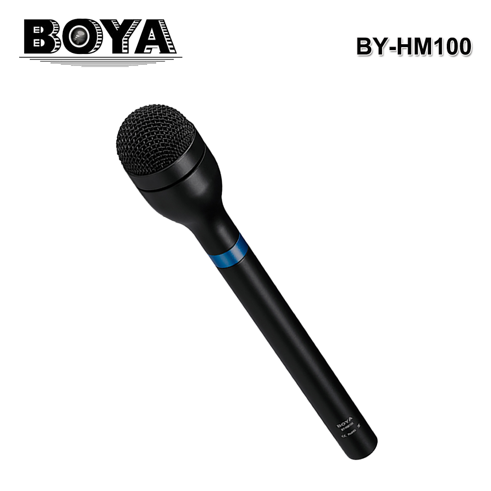 BOYA BY-HM100 Handheld Omnidirectional Dynamic Microphone XLR Connector Wired Microphone Professional For  ENG & Interviews Mic yanmai microphone omnidirectional dynamic condenser sound mic
