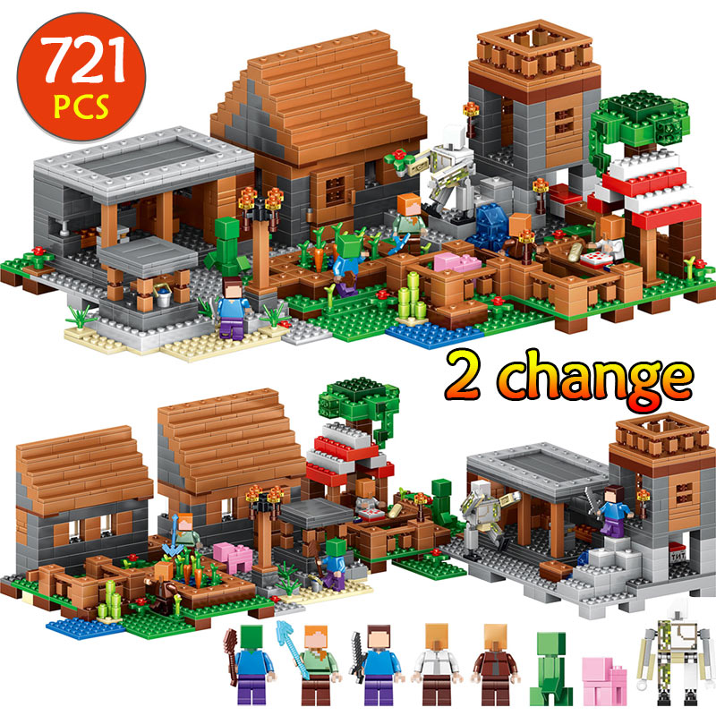 Compatible LegoINGLYS village Minecrafted My world mini New sets figures Building Blocks children kids toys children bricks f14586 b apm 2 8 apm2 8 rc multicopter flight controller board compass