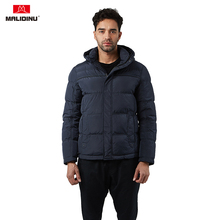 MALIDINU New Men Down Jacket Winter Down Coat Hooded White Duck Down Mens Parka Heavy Down Jacket Men Russian Winter Jacket -30C new winter outdoor trekking white duck down jacket men hooded outwear duck down coat breathable hiking camping sports jackets