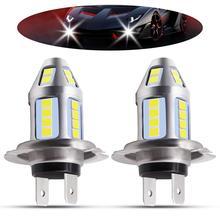 1pair H7 LED Car Fog Lamp High Power 150W 3030 Chips 6500K White Waterproof Auto Front Headlamp Driving Lights DC 12V 24V