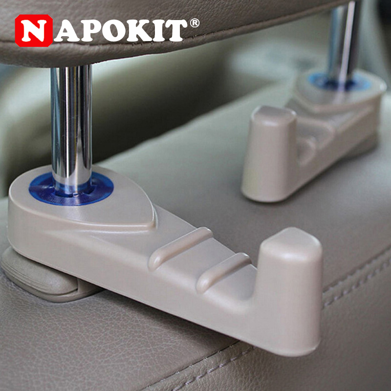 1PCS Car Fastener & Clip Interior Accessories Bags Auto Portable Seat Hook Hanger Purse Bag Holder Organizer Holder Car Styling