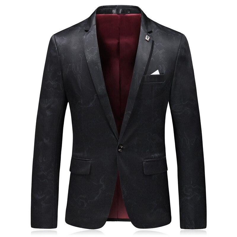 Blazers Blazer 2018 Hommes Costume Imprimé Style Marque Plyesxale Veste Q5 Vêtements Occasionnel black Slim Kaki Printemps Fit Vintage Homme Chinois Khaki nAfEqx6q