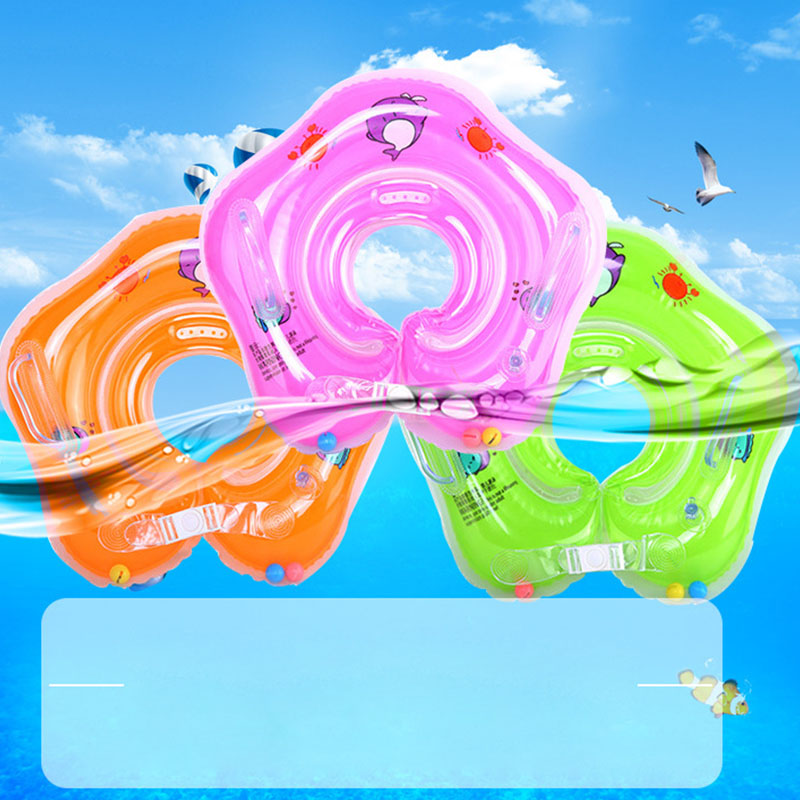 Swimming Baby Pools Accessories Baby Inflatable Ring Baby Neck Inflatable Wheels For Newborns Bathing Circle Safety Inflatable